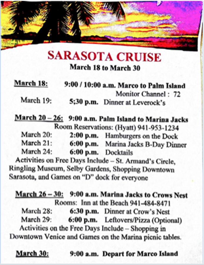 140318 Sarasota Cruise