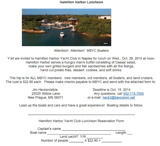 141029 Hamilton Harbor Lunch