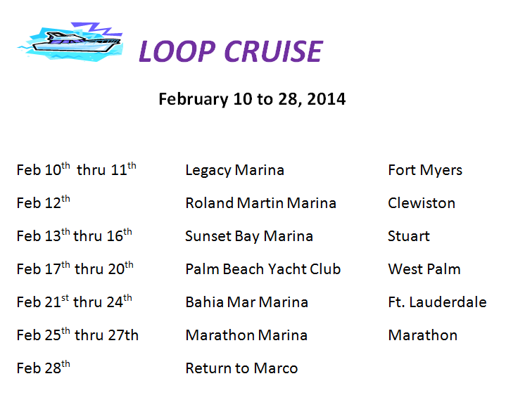 Loop Cruise Itinerary