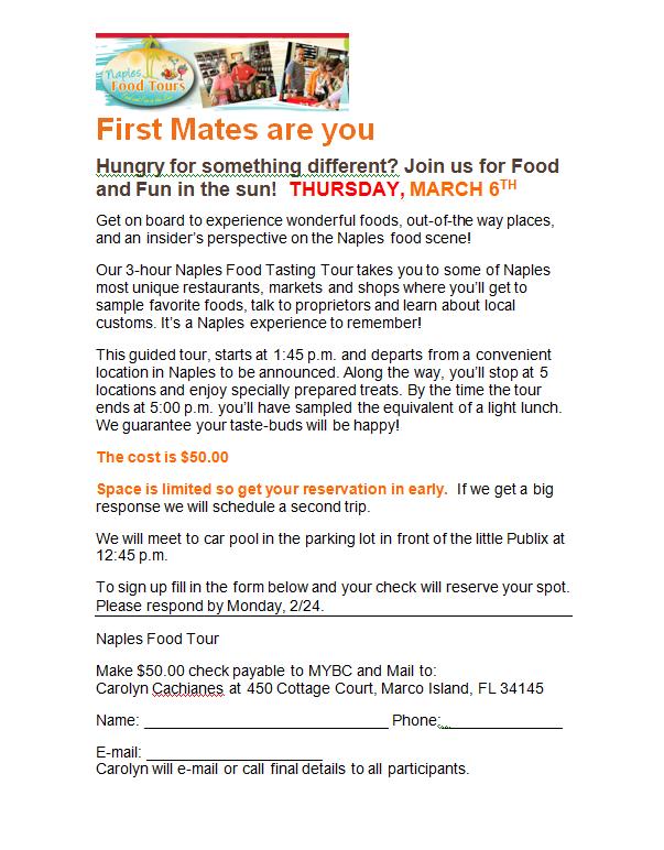 140306 First Mates Naples Food Tour