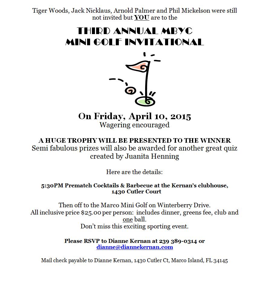 150410 Mini Golf Invitational