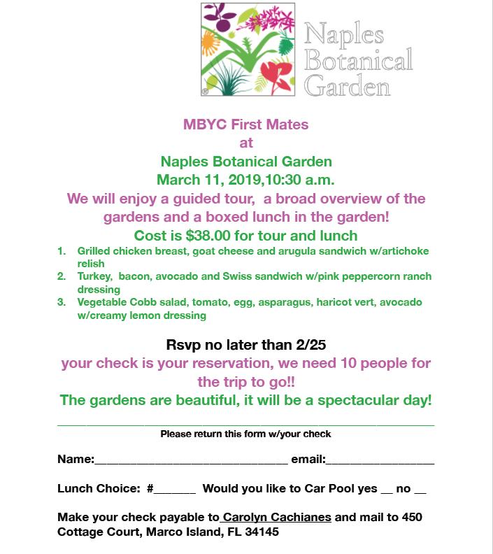 190311 First Mates Botanical Gardens